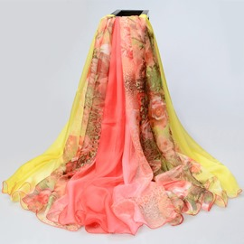 Ericdress Colorful Chiffon Long Scarf
