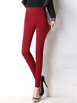 Ericdress Thick Fleece Leggings Pants