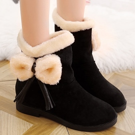 Ericdress Lovely Suede Tassels Snow Boots