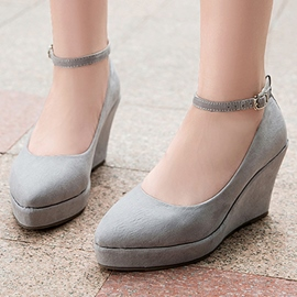 Ericdress Pretty Point Toe Ankle Strap Wedges