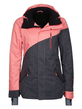 Ericdress Color Block Ski Jacket