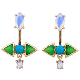 Ericdress Split Green Stud Earrings