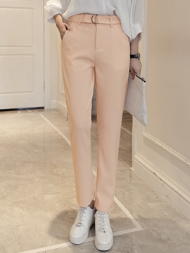 Ericdress Simple Casual Belt Pants