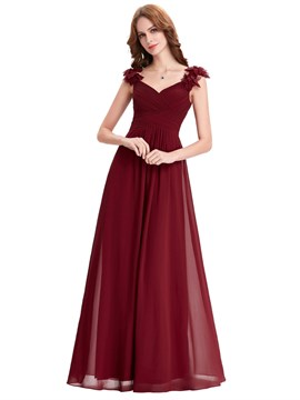 Ericdress Simple Straps A Line Long Bridesmaid Dress