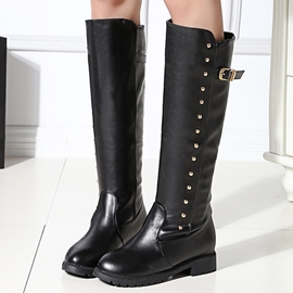 Ericdress Popular Rivets Decorated Knee High Boots