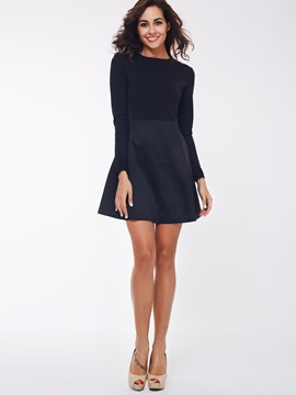 ericdress Ebene neun Punkte Hülse A-line casual dress
