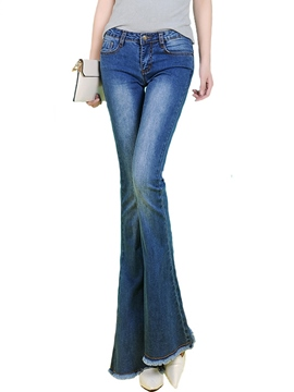 Ericdress Vintage Flared Jeans