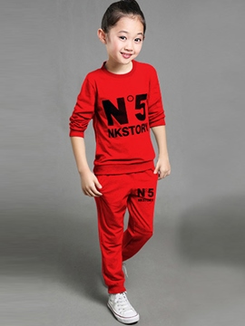 Ericdress Letter Printed Tee Pure Two-Piece Boys Outfit