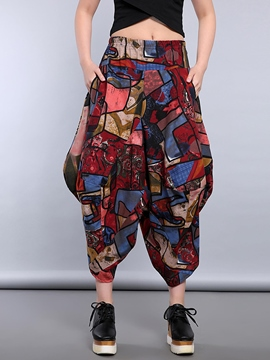 Ericdress Chinese Ethnic Style Print Pants