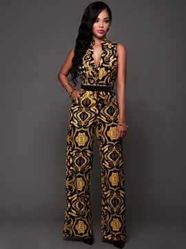 Ericdress Unique Print Jumpsuits Pants