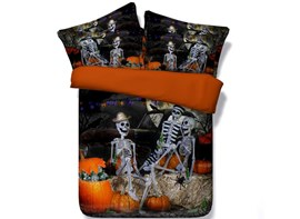 Ericdress Skull Ghost's Party Print 3D Bedding Sets