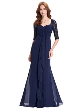 Ericdress Elegant Half Sleeves Sheath Long Mother Of The Bride Dress
