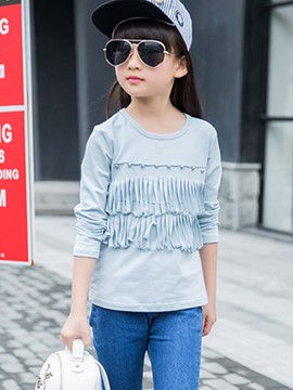 Ericdress Bead Tassel Tee Girls Top