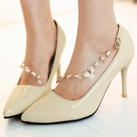 Ericdress Rivets Point Toe Pumps