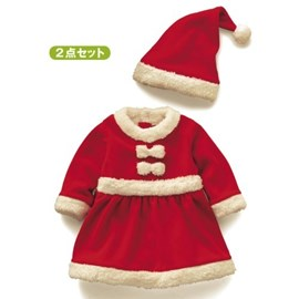 Ericdress Christmas Bow Patchwork Pleated Girls Dress
