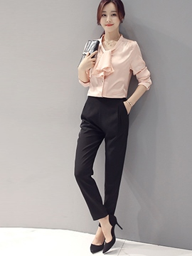 Ericdress Sweet Simple Blouse Suit