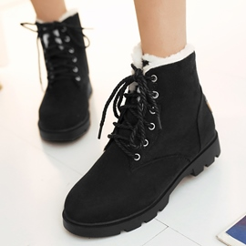 Ericdress Pretty Short Floss Lace up Ankle Boots