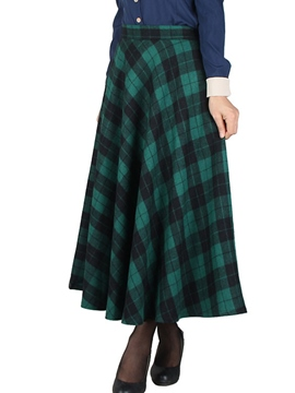 Ericdress Vintage Plaid Skirt