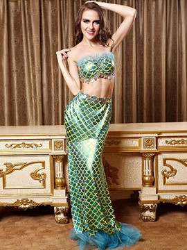 Ericdress Patchwork Sexy Mermaid Cosplay Costume
