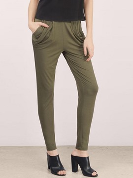 Ericdress Solid Color Harem Pants