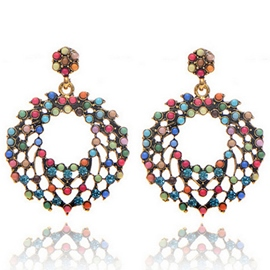 Ericdress Colorful Round Beads Earrings
