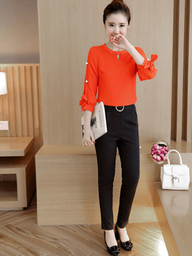 Ericdress Sweet Bead Blouse Suit