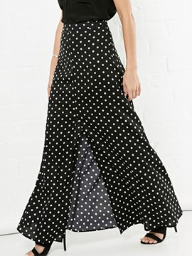Ericdress Unique Polka Dots Split Skirt