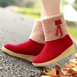 Ericdress Bright Tassels Snow Boots