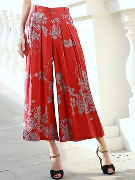Ericdress Chinese Ethnic Print Casual Pants