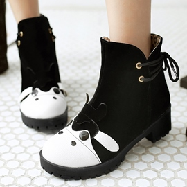 Ericdress Cartoon Animal Ankle Boots
