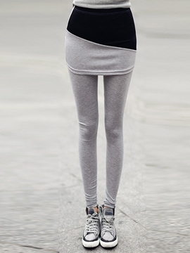 Ericdress Color Block Cotton Thick Leggings Pants