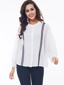 Ericdress Stripped Casual Loose Blouse