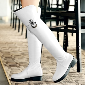 Ericdress Simple PU Knee High Boots