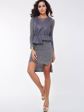 Ericdress Unique Knitwear Dress Suit