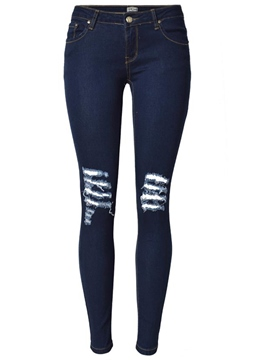 Ericdress Fashion Skinny Ripped Jeans