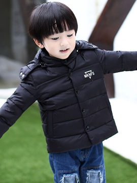 Ericdress Thickening Stud-Snap Detachable Boys&Girls Outerwear