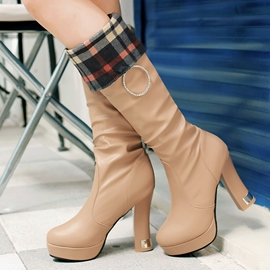 Ericdress Stylish Platform Chunky Heel Knee High Boots