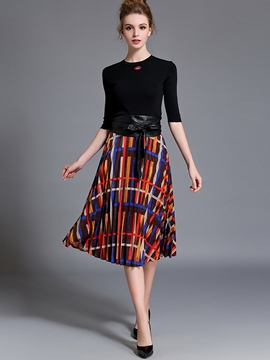 Ericdress Unique Pattern Skirt Suit