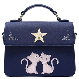 Ericdress Personality Sweet Cat Print Handbag