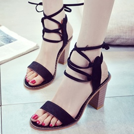 Ericdress All Match Open Toe Chunky Sandals