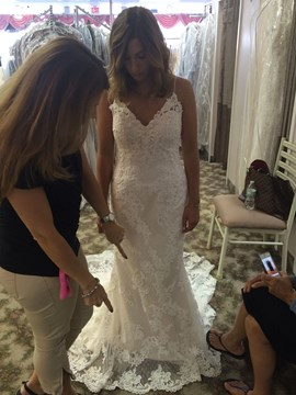 Ericdress Charming Spaghetti Straps Appliques Mermaid Wedding Dress