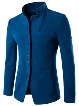 Ericdress Vogue Stand Collar Slim Men's Woolen Jacket