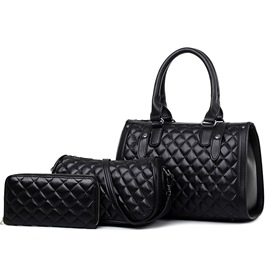 Ericdress Grained Embossed Handbags(3 Bags)