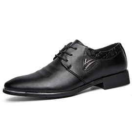 Ericdress Office Point Toe Lace up Men's Oxfords