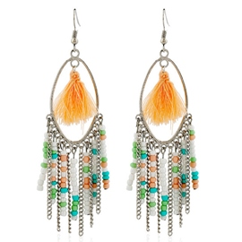 Ericdress Alloy Beads Tassels Earrings
