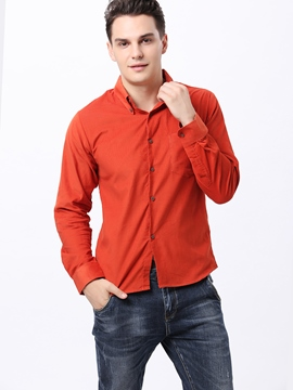 Ericdress Multi-Colored Single-Breasted Long Sleeve Shirt