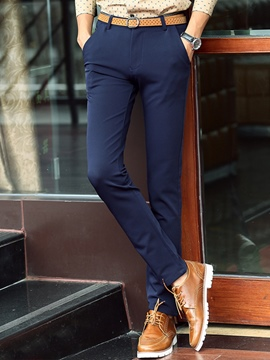 Ericdress Formal Straight Slim Men's Pants