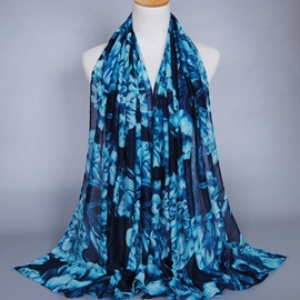 Ericdress Splendid Big Flowers Scarf