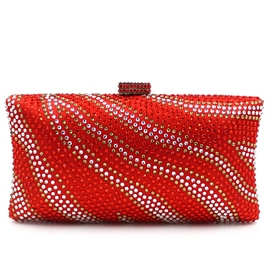 Ericdress Upscale Stripe Diamante Evening Clutch