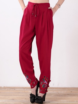 Ericdress Chinese Ethnic Casual Pants